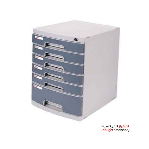 Deli 6 drawer desk top cabinet with lock #8876