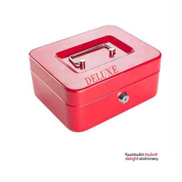 Delux cash box metal with key 12