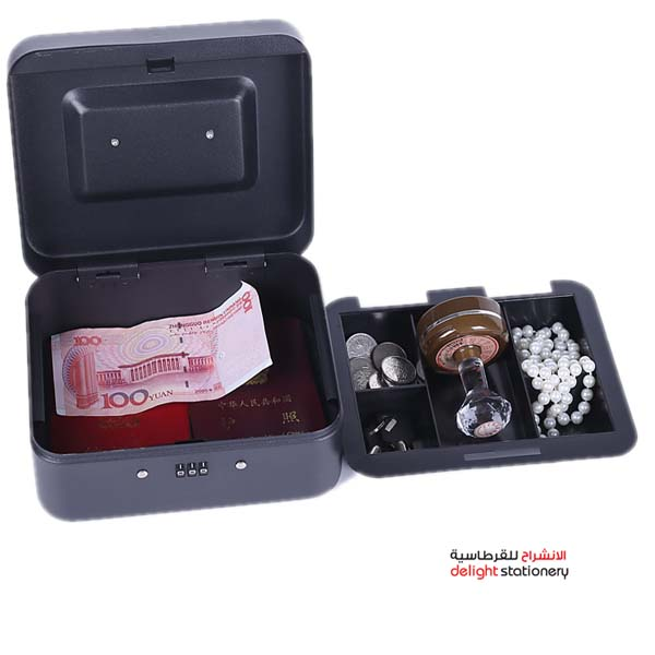 Deluxe cash box metal with key 8