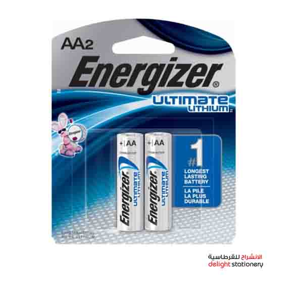 Energizer l91 aa ultimate lithium battery (2 pack)