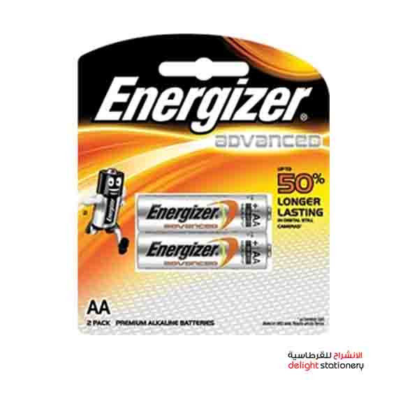 Energizer advanced aa x91rp2 c1 battery (2 pack)