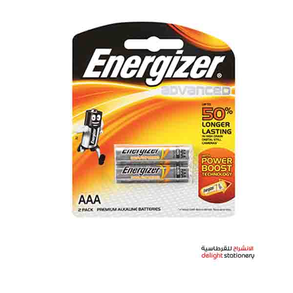 Energizer advanced aaa x92rp2 c1 battery (2 pack)