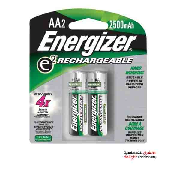 Energizer rechargeable aa nh15 bp2 battery 1.2v (2 pack)