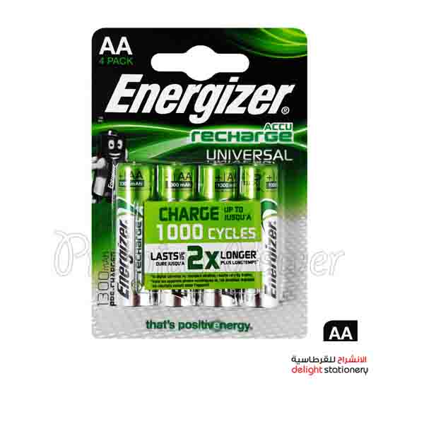 Energizer rechargeable aa nh15 bp2 battery 1.2v (4 pack)