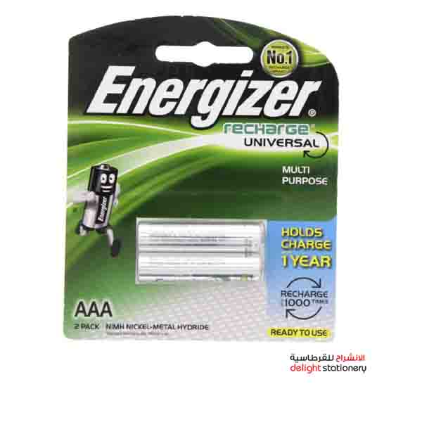 Energizer rechargeable aaa nh12 battery 1.2v (2 pack)