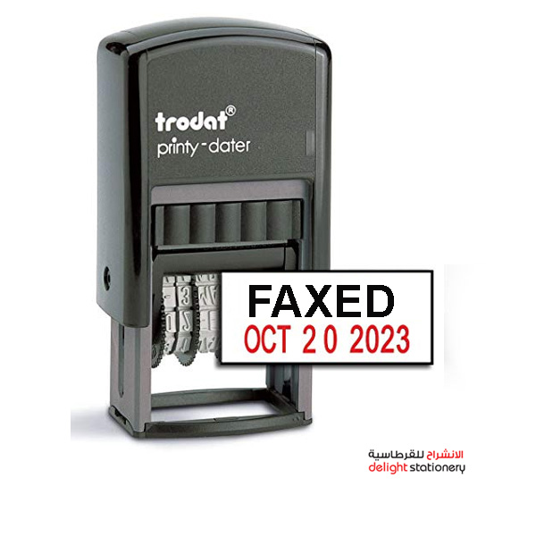 Trodat self ink automatic stamp faxed w/date mini