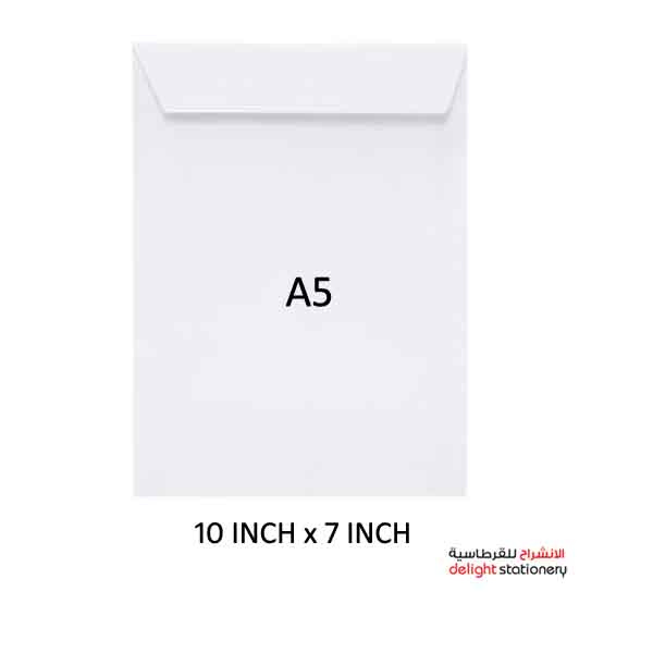 Maxi white envelopes a5 10 inch x 7 inch peel&seal 100gsm