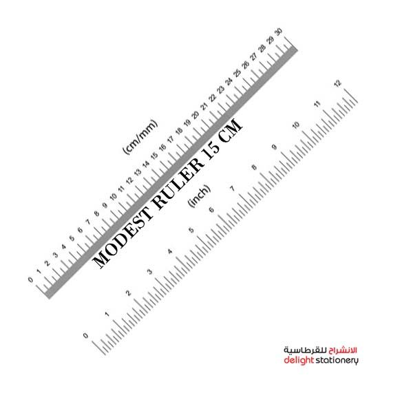 Modest ruler plastic clear 6