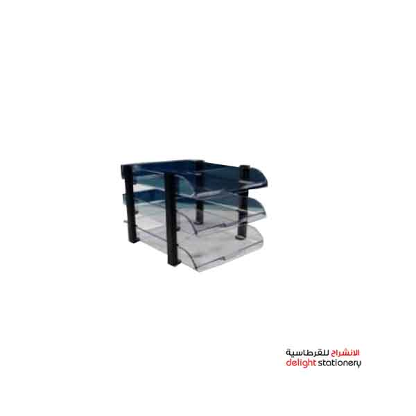 Modest plastic 3 tier transparent clear office tray (ms-1758)