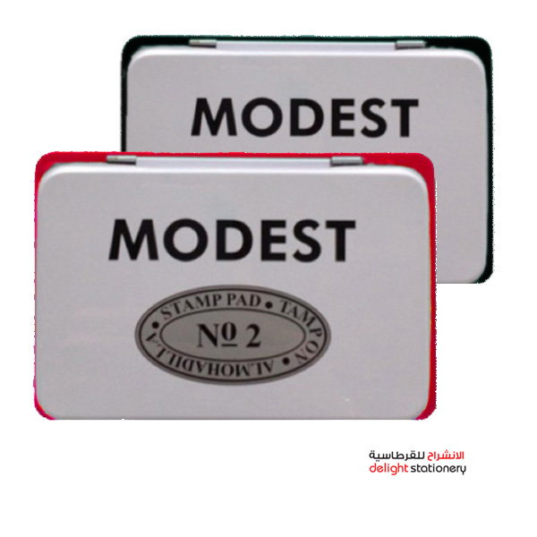 Modest stamp pad no.2 black & red