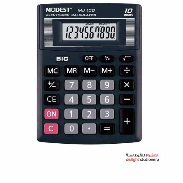 Modest mj-100 electronic calculator 10 digit