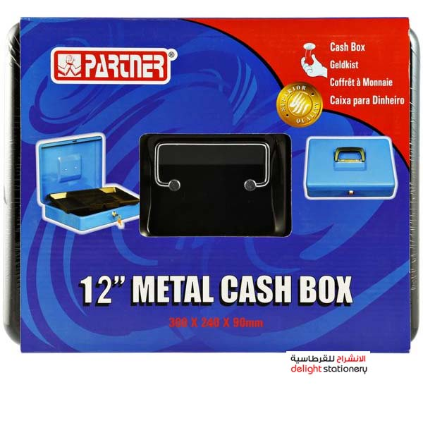 Partner cash box metal with key 12