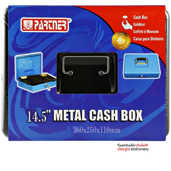 Partner  cash box metal with key 14.5