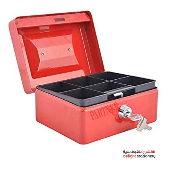 Partner cash box metal with key 8