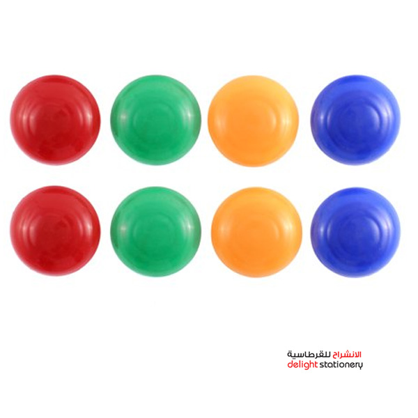 Partner magnetic coin 20mm solid-colored 8pcs