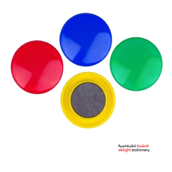 Partner magnetic coin 40mm solid-colored 4pcs