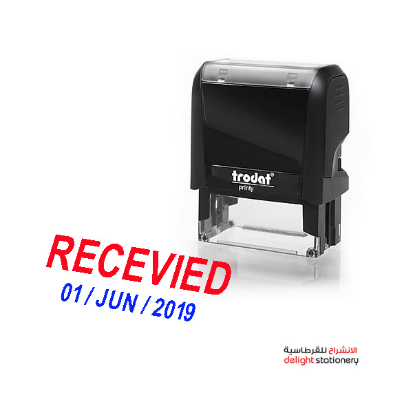 Trodat self ink automatic stamp receive w/date