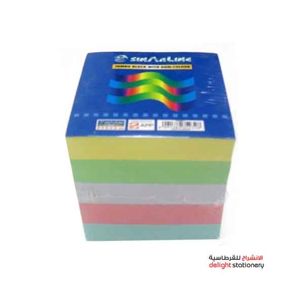 Sinar line memo cube paper color with glue