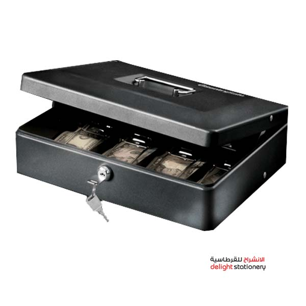 Deluxe cash box metal with key 10